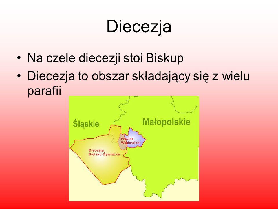 Diecezja Na czele diecezji stoi Biskup