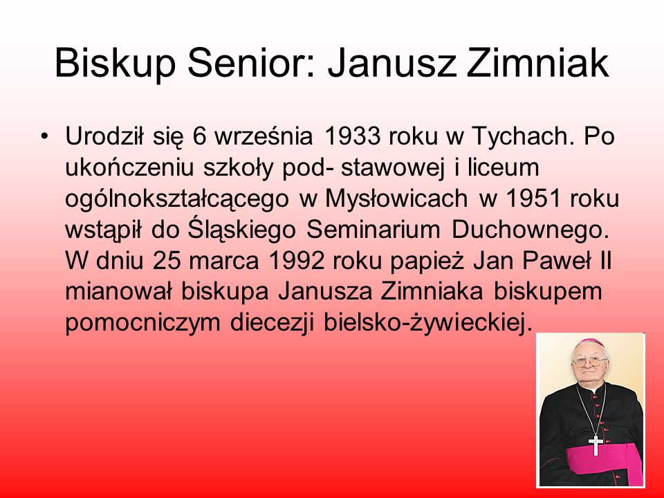 Biskup Senior: Janusz Zimniak