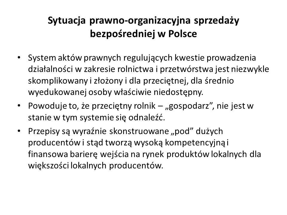 Sytuacja prawno-organizacyjna sprzedaży bezpośredniej w Polsce