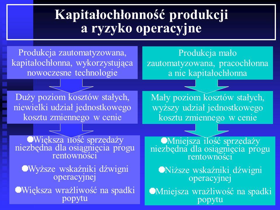Kapitałochłonność produkcji a ryzyko operacyjne