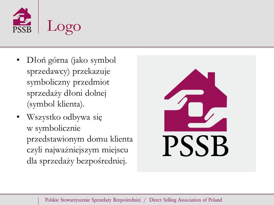 Logo Dłoń górna (jako symbol sprzedawcy) przekazuje symboliczny przedmiot sprzedaży dłoni dolnej (symbol klienta).