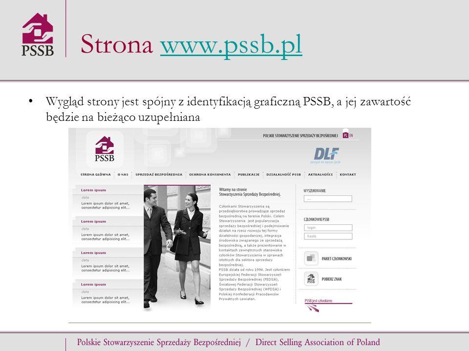 Strona www.pssb.pl Wygląd strony jest spójny z identyfikacją graficzną PSSB, a jej zawartość będzie na bieżąco uzupełniana.
