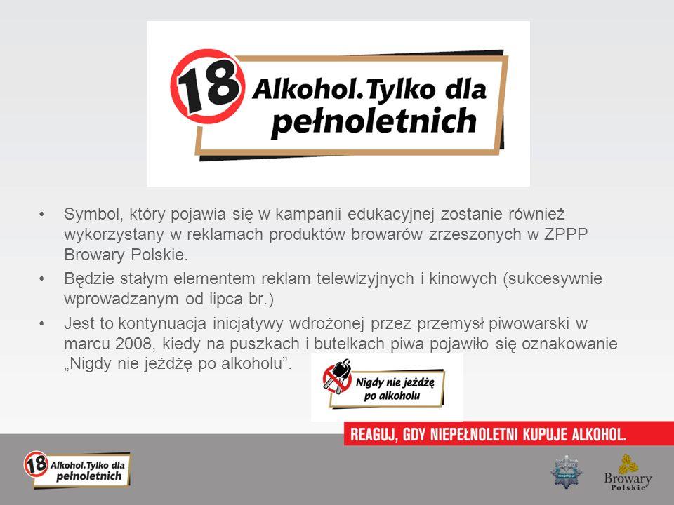 Symbol, który pojawia się w kampanii edukacyjnej zostanie również wykorzystany w reklamach produktów browarów zrzeszonych w ZPPP Browary Polskie.