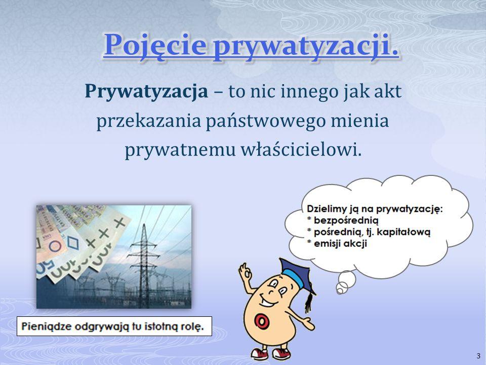 Pojęcie prywatyzacji.