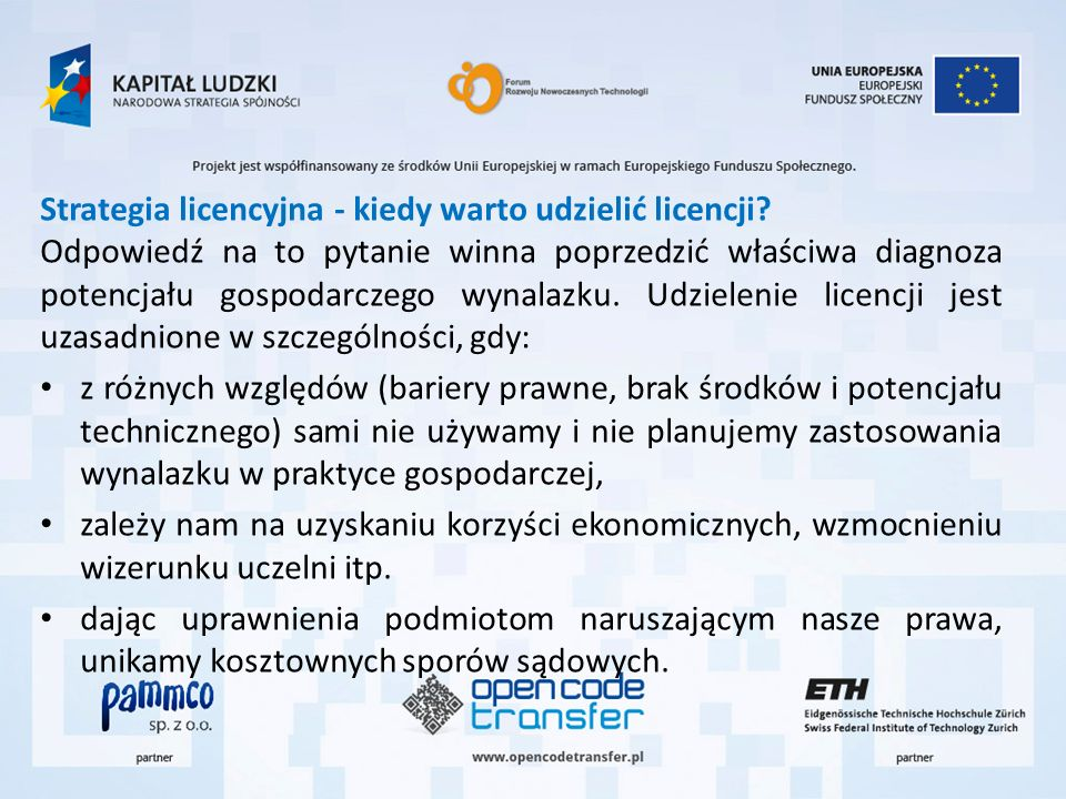 Strategia licencyjna - kiedy warto udzielić licencji
