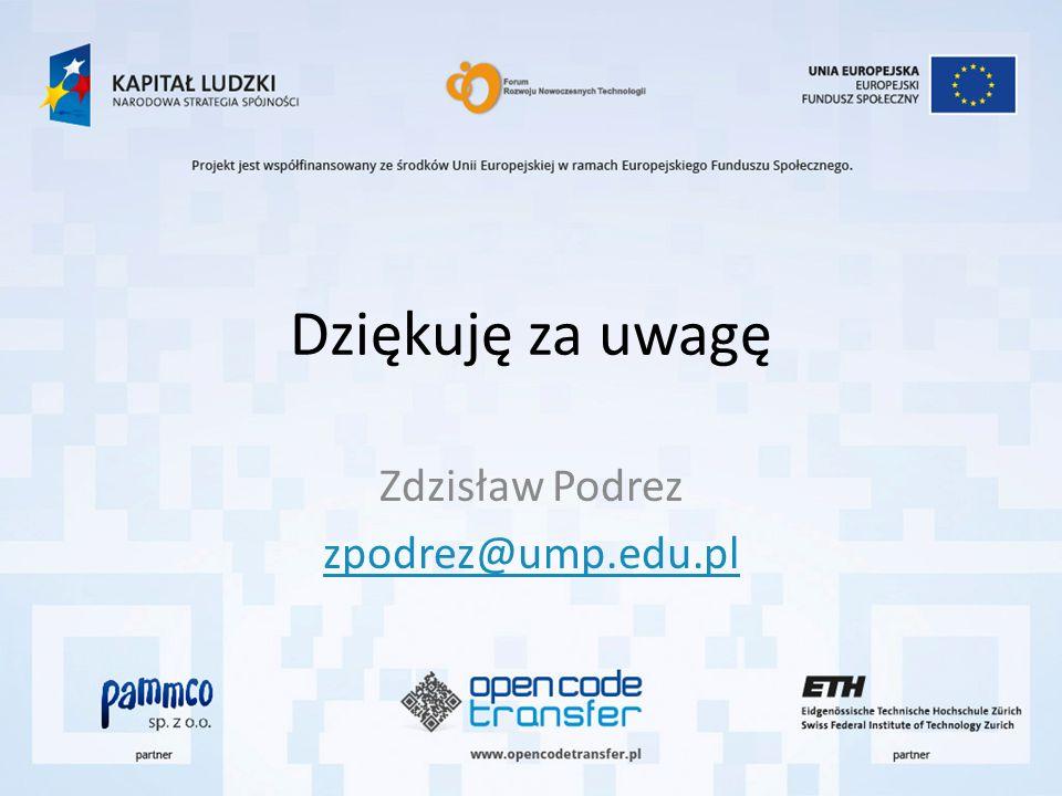 Zdzisław Podrez zpodrez@ump.edu.pl
