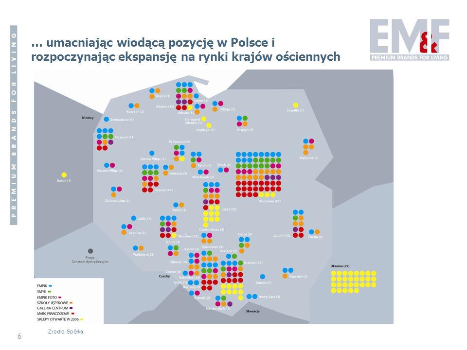 … umacniając wiodącą pozycję w Polsce i rozpoczynając ekspansję na rynki krajów ościennych
