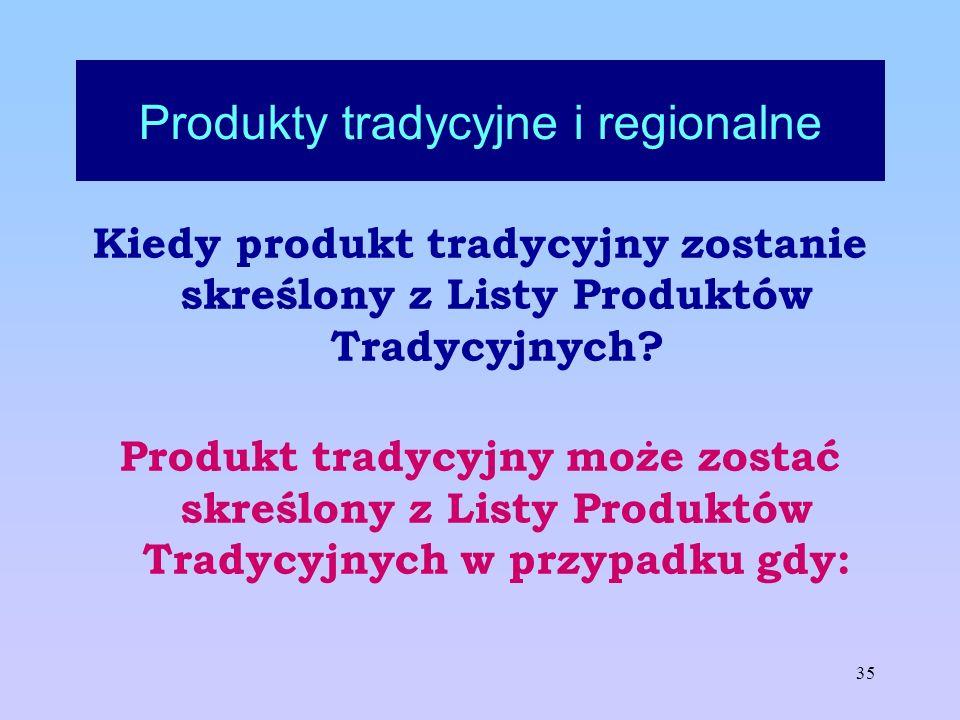 Produkty tradycyjne i regionalne