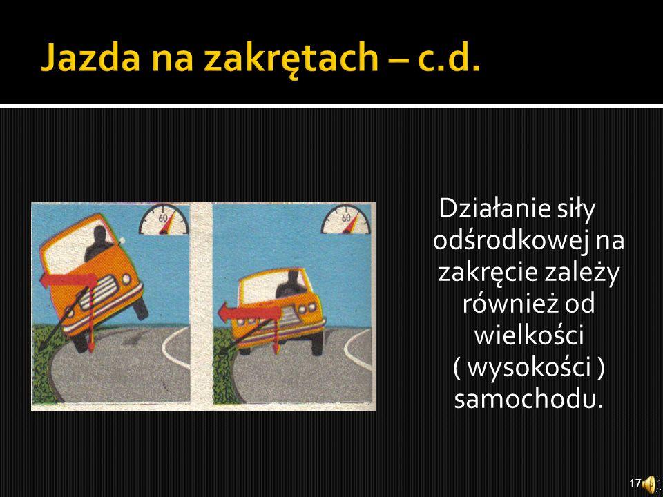 Jazda na zakrętach – c.d.