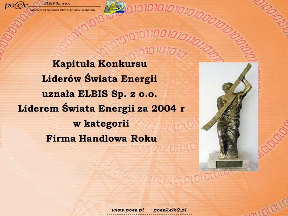 Liderów Świata Energii Liderem Świata Energii za 2004 r