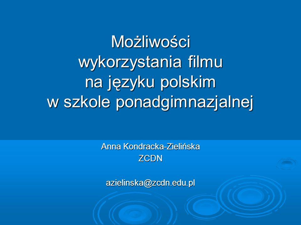 Anna Kondracka-Zielińska ZCDN azielinska@zcdn.edu.pl