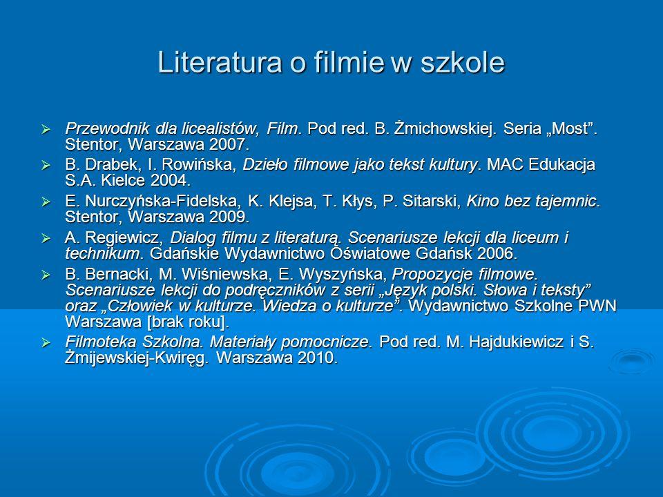 Literatura o filmie w szkole