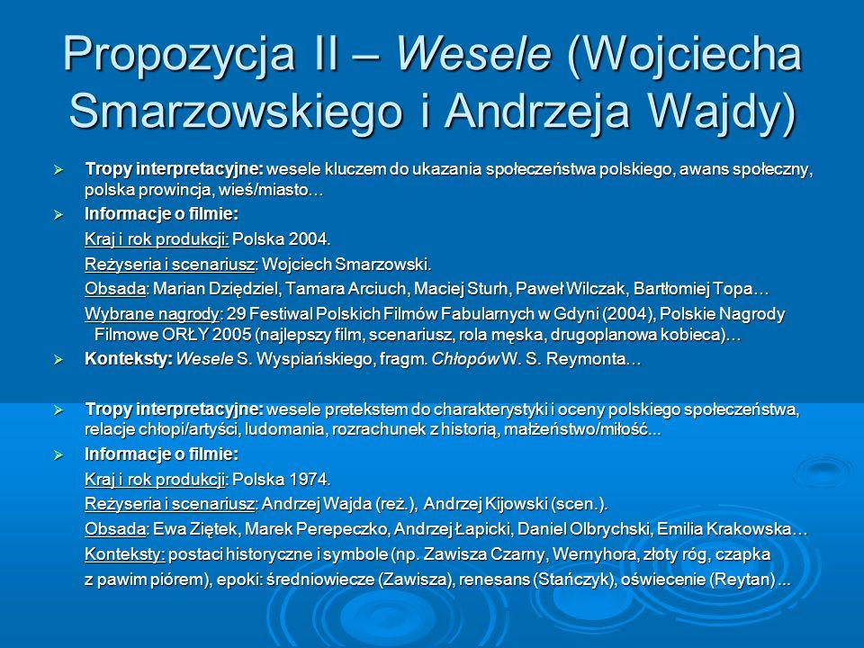 Propozycja II – Wesele (Wojciecha Smarzowskiego i Andrzeja Wajdy)