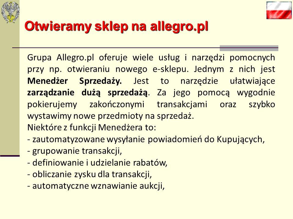 Otwieramy sklep na allegro.pl