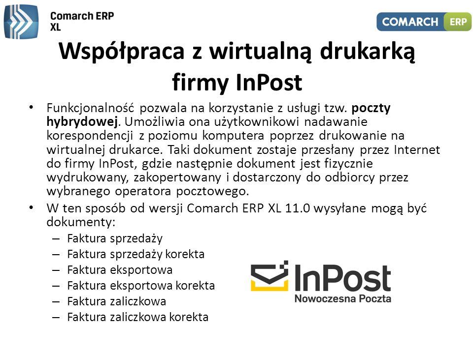 Współpraca z wirtualną drukarką firmy InPost