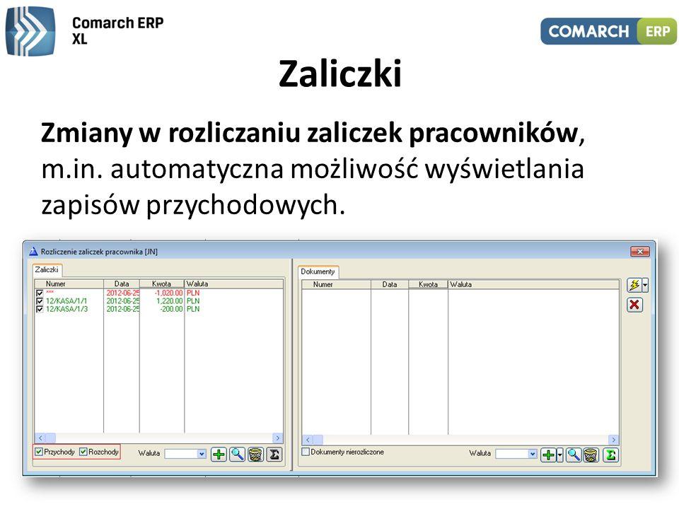 Zaliczki Zmiany w rozliczaniu zaliczek pracowników, m.in.