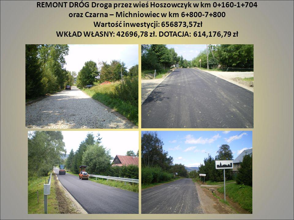 REMONT DRÓG Droga przez wieś Hoszowczyk w km 0+160-1+704