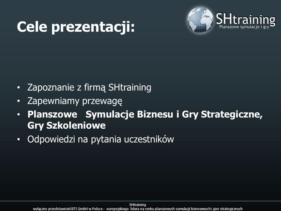 Cele prezentacji: Zapoznanie z firmą SHtraining Zapewniamy przewagę