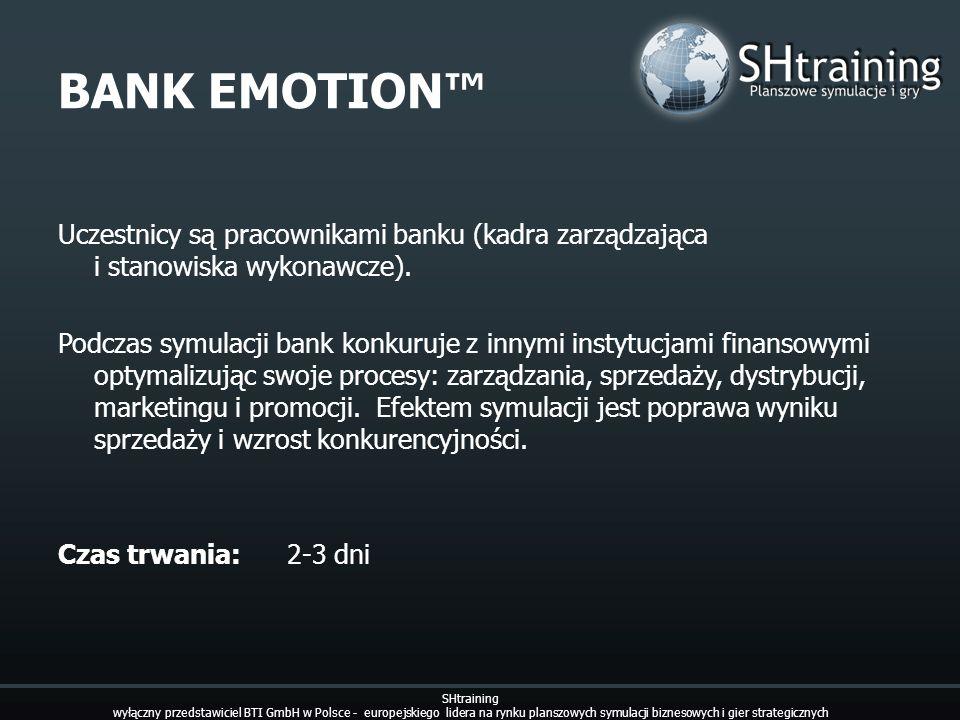 BANK EMOTION™ Uczestnicy są pracownikami banku (kadra zarządzająca i stanowiska wykonawcze).