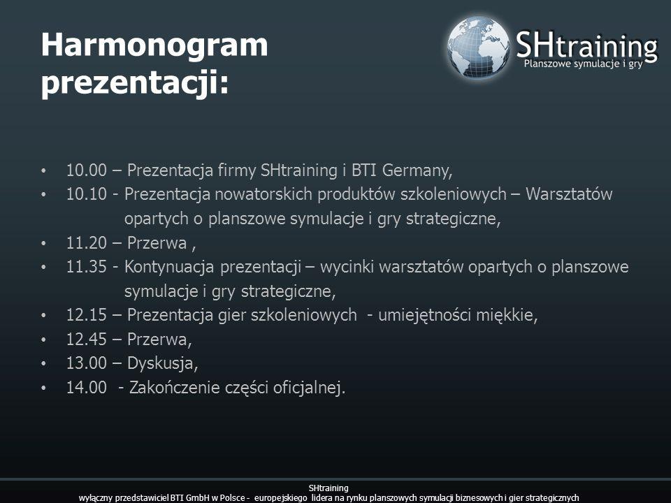 Harmonogram prezentacji:
