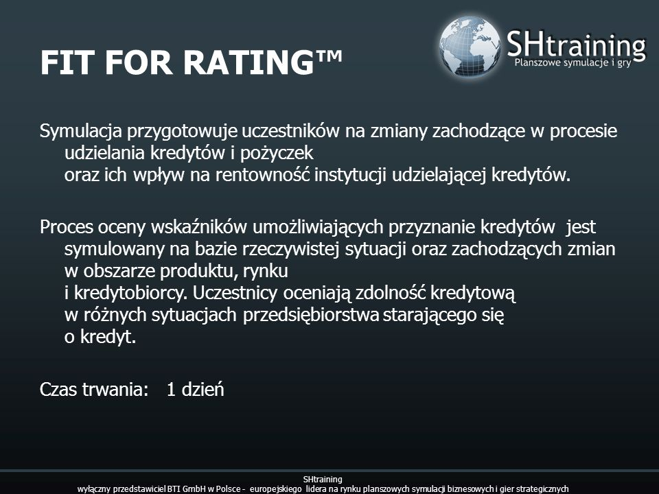 FIT FOR RATING™