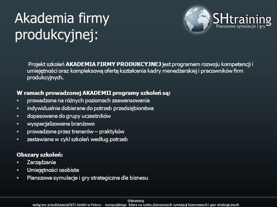 Akademia firmy produkcyjnej: