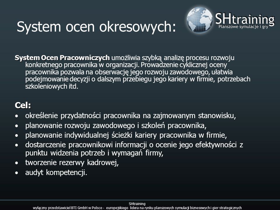System ocen okresowych: