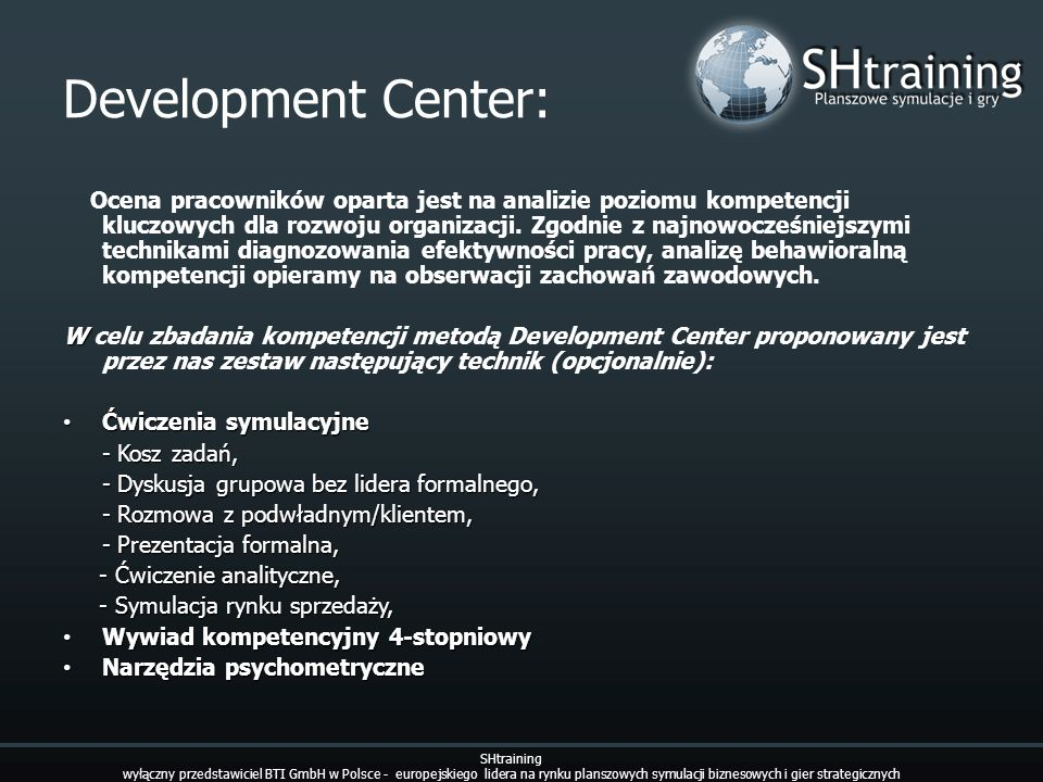 Development Center: