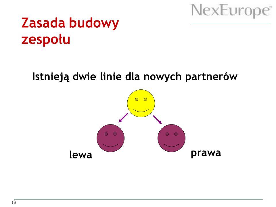 Zasada budowy zespołu Istnieją dwie linie dla nowych partnerów prawa