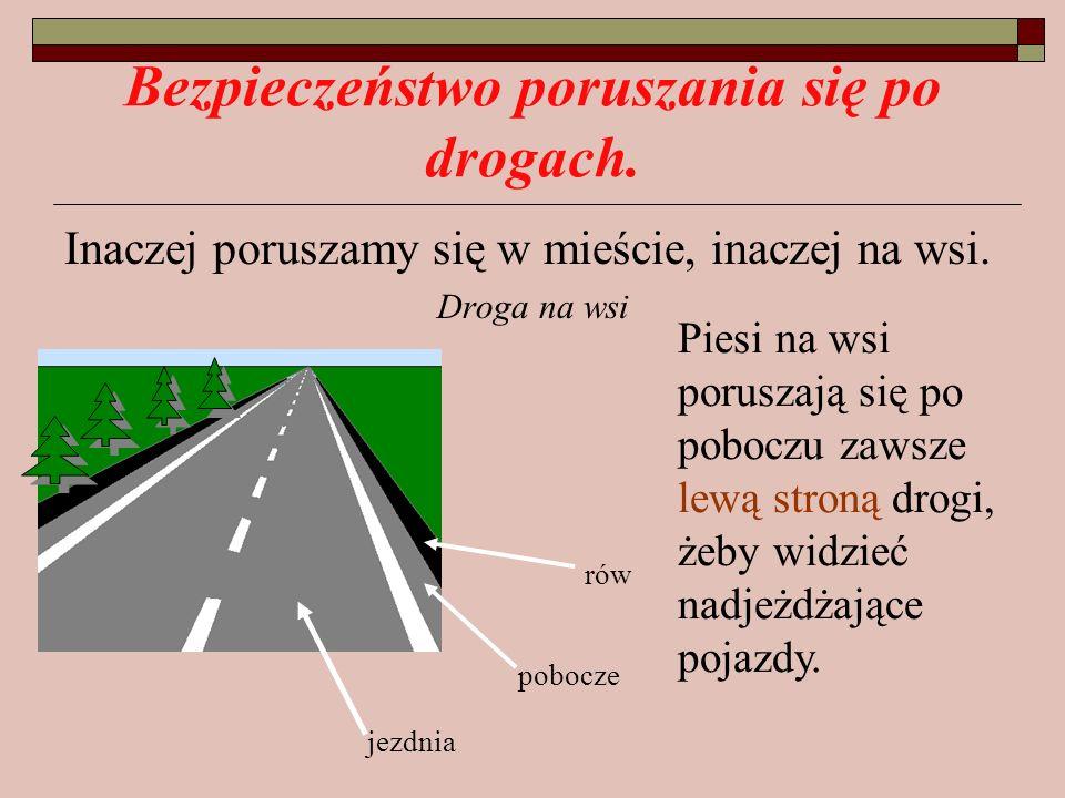 Bezpieczeństwo poruszania się po drogach.