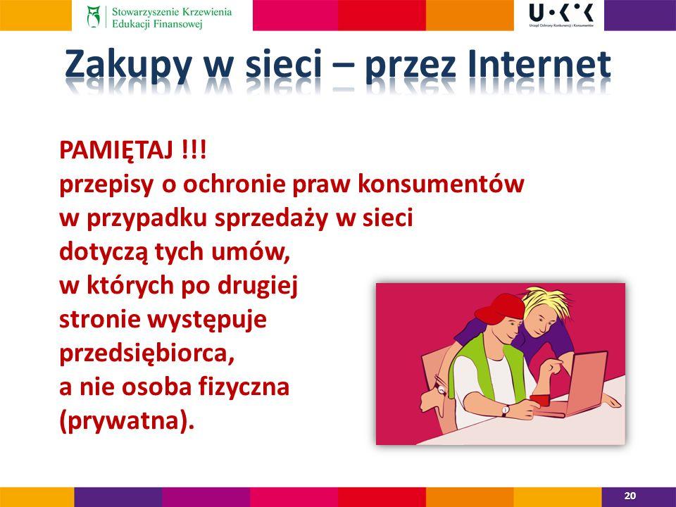 Zakupy w sieci – przez Internet
