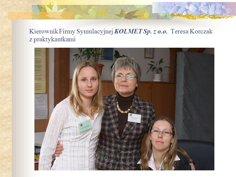Kierownik Firmy Symulacyjnej KOLMET Sp. z o. o