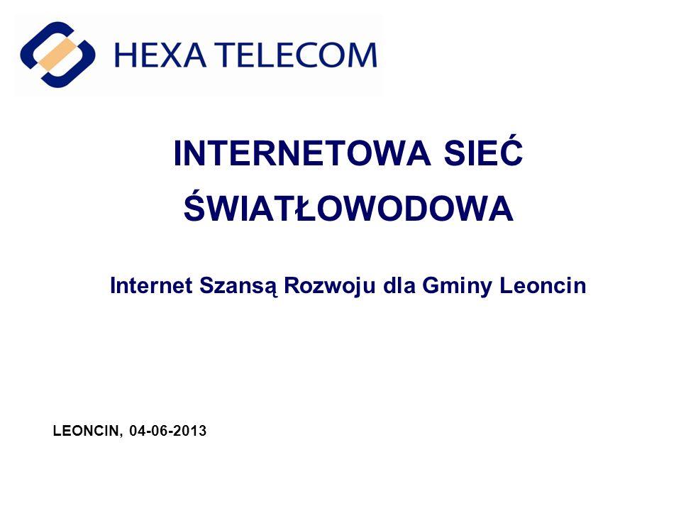 INTERNETOWA SIEĆ ŚWIATŁOWODOWA Internet Szansą Rozwoju dla Gminy Leoncin
