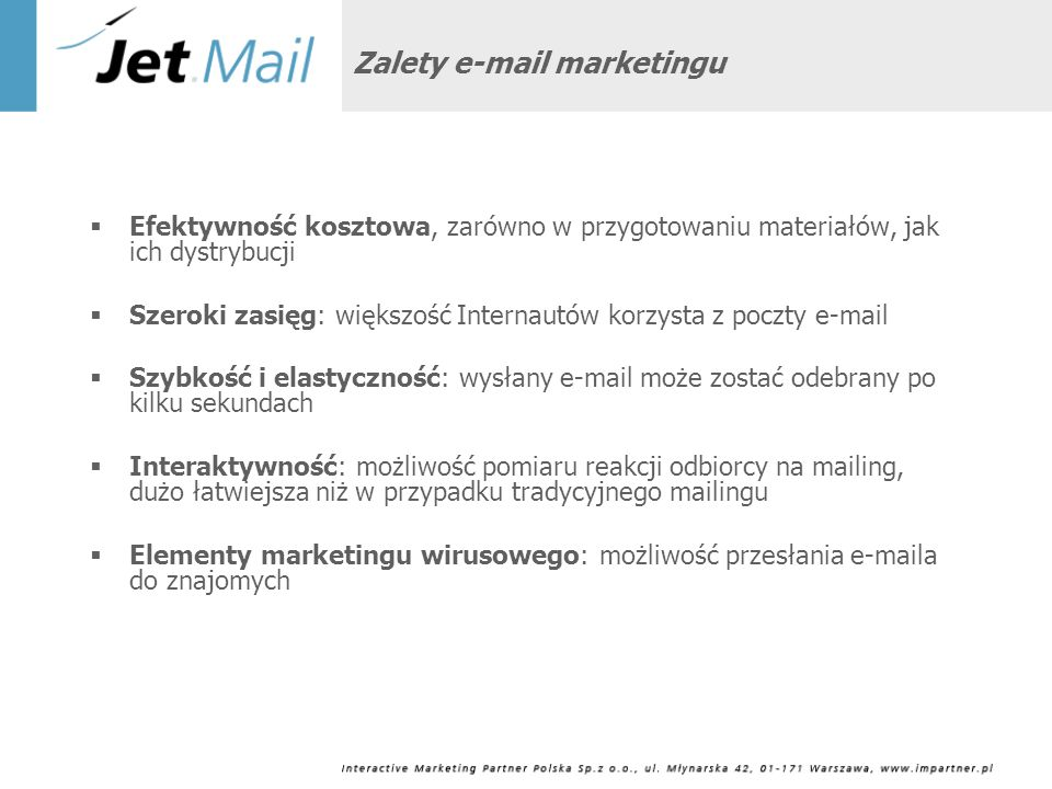 Zalety e-mail marketingu