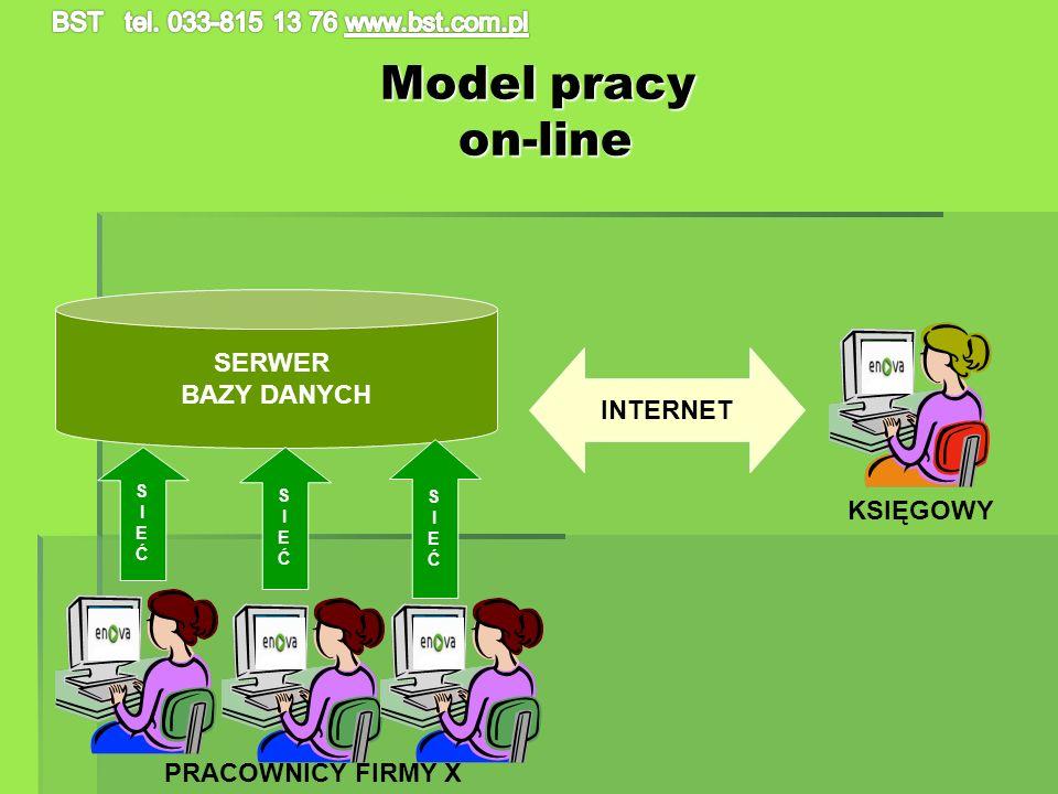 Model pracy on-line SERWER BAZY DANYCH INTERNET KSIĘGOWY