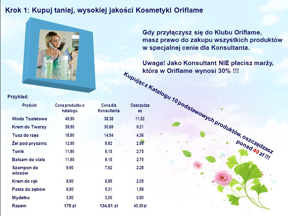 Krok 1: Kupuj taniej, wysokiej jakości Kosmetyki Oriflame