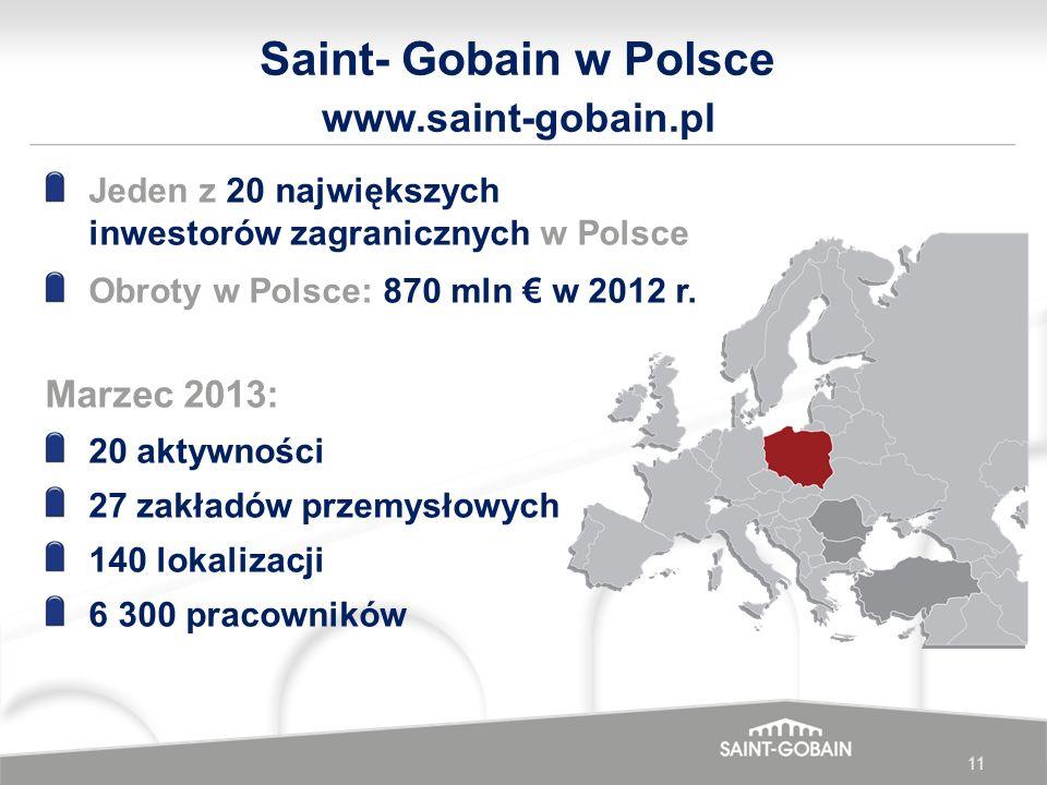 www.saint-gobain.pl Saint- Gobain w Polsce Marzec 2013: