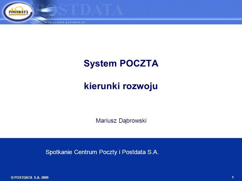 System POCZTA kierunki rozwoju