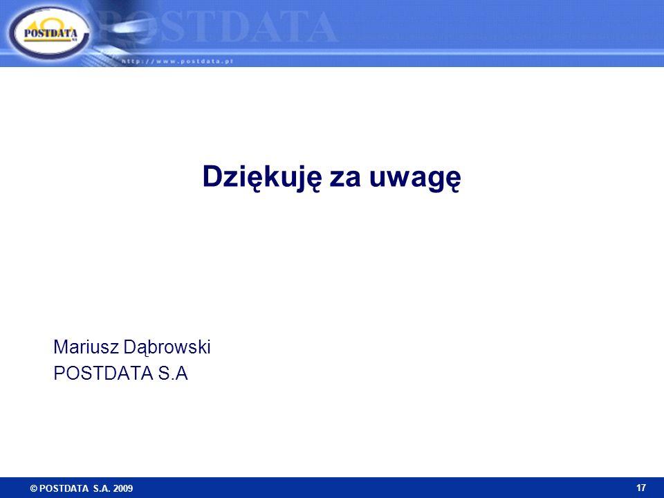 Mariusz Dąbrowski POSTDATA S.A