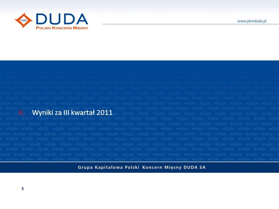 II. Wyniki za III kwartał 2011