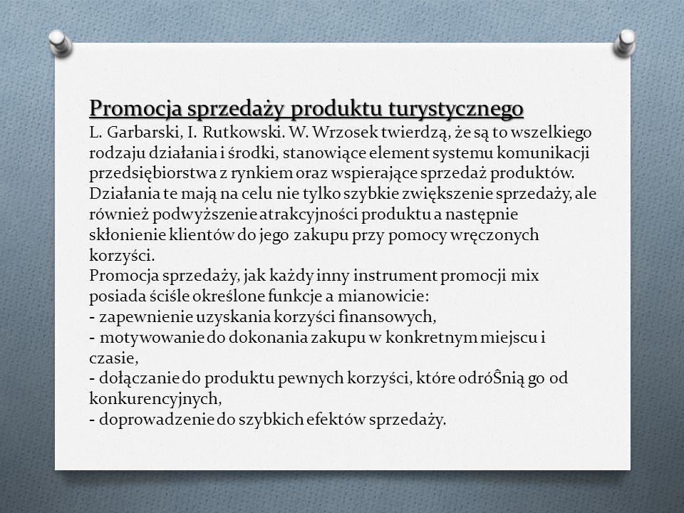 Promocja sprzedaży produktu turystycznego L. Garbarski, I.