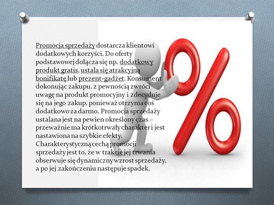 Promocja sprzedaży dostarcza klientowi dodatkowych korzyści