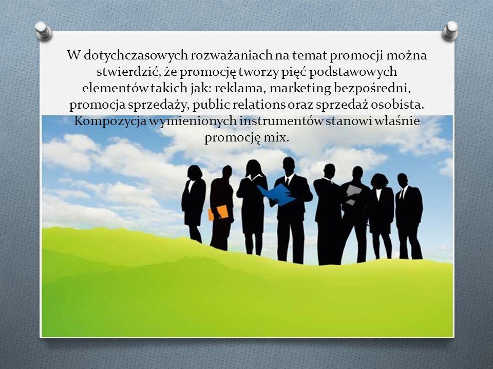 W dotychczasowych rozważaniach na temat promocji można stwierdzić, że promocję tworzy pięć podstawowych elementów takich jak: reklama, marketing bezpośredni, promocja sprzedaży, public relations oraz sprzedaż osobista.