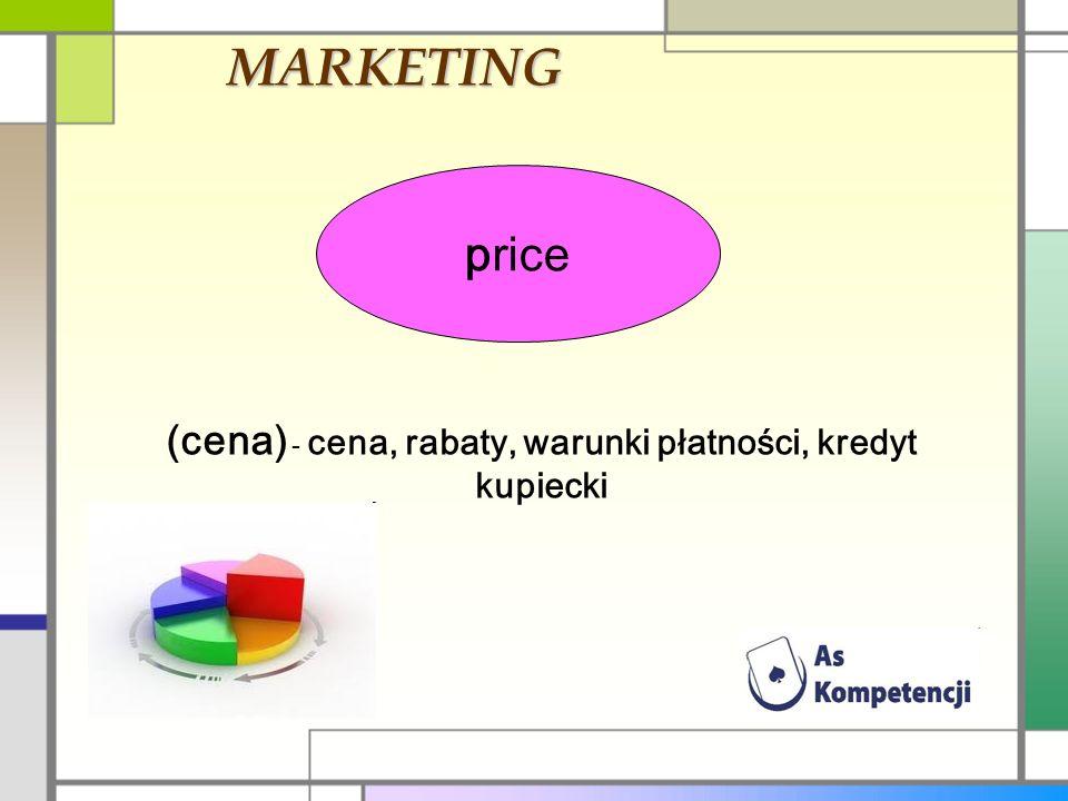 (cena) - cena, rabaty, warunki płatności, kredyt kupiecki