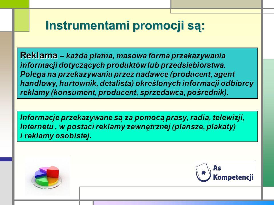 Instrumentami promocji są: