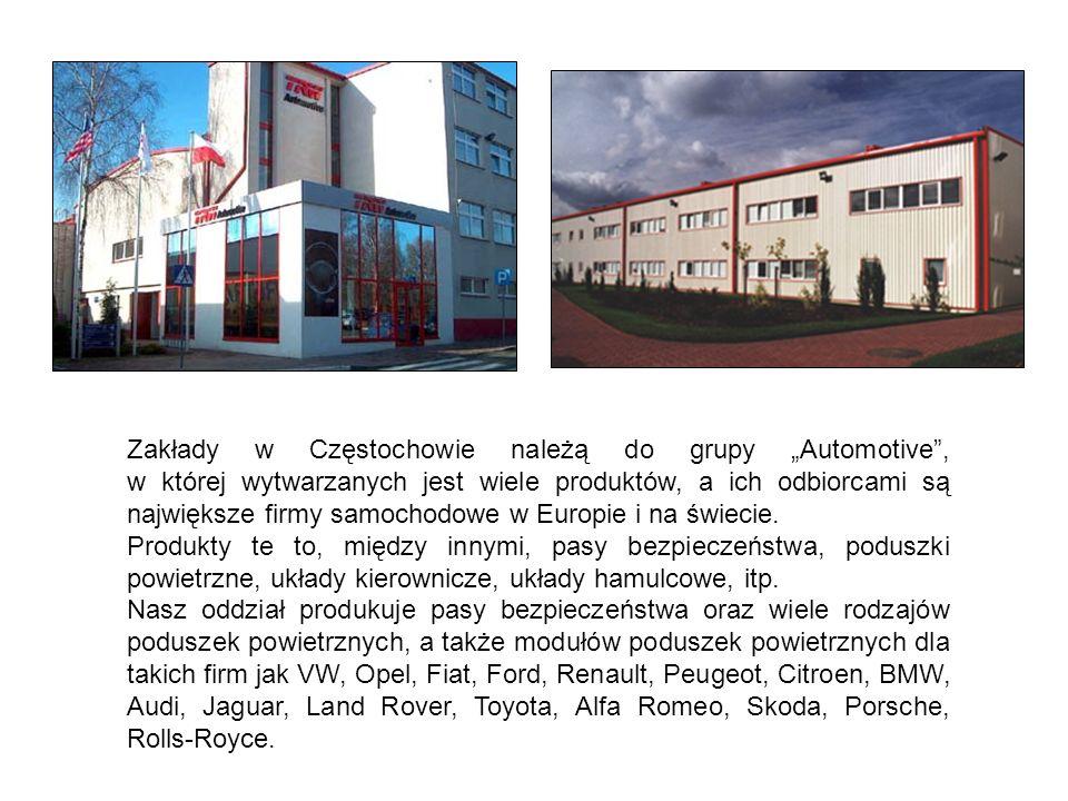 """Zakłady w Częstochowie należą do grupy """"Automotive , w której wytwarzanych jest wiele produktów, a ich odbiorcami są największe firmy samochodowe w Europie i na świecie."""