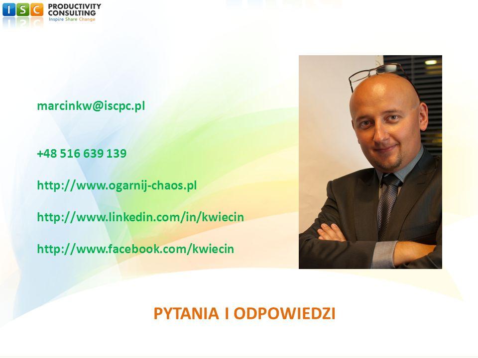 PYTANIA I ODPOWIEDZI marcinkw@iscpc.pl +48 516 639 139