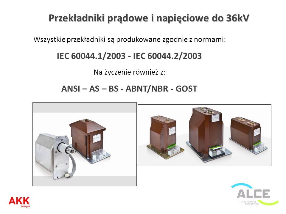 Przekładniki prądowe i napięciowe do 36kV