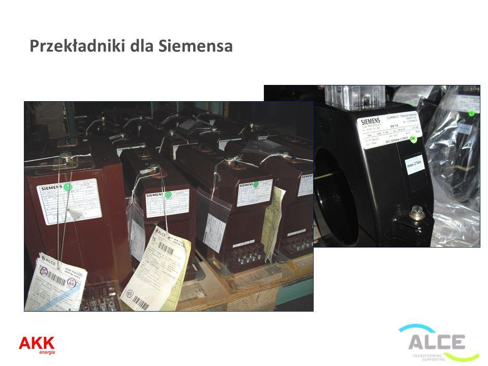 Przekładniki dla Siemensa