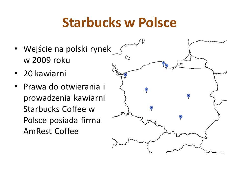Starbucks w Polsce Wejście na polski rynek w 2009 roku 20 kawiarni